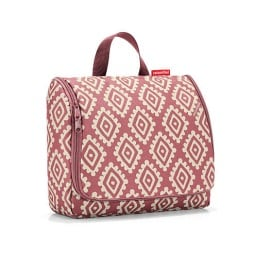 reisenthel Kulturtasche TOILETBAG XL DIAMONDS Rouge Rot/Weiß