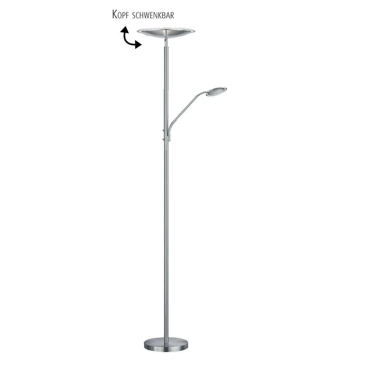 led fluter stehlampe kenobi mit leselicht porta. Black Bedroom Furniture Sets. Home Design Ideas