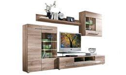wohnwand holz dunkel, wohnwände online kaufen » modern | porta! online shop, Design ideen