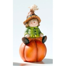 casaNOVA Dekofigur VOGELSCHEUCHE JUNGE 17 cm Terrakotta orange