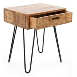 Nachttisch 35 x 45 x 50 cm Holznachbildung braun/schwarz