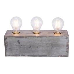 Leuchten Direkt Retrofit Vintage Tischlampe 3 flg SAMIA Eisenfarbig