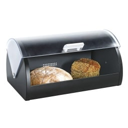 casaNOVA Brotkasten FRESH schwarz/transparent