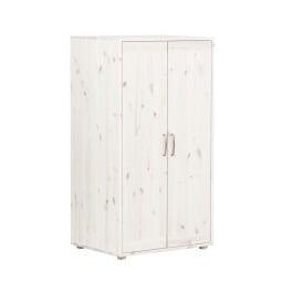 Kleiderschrank 72 x 135 x 56 cm Holz weiß
