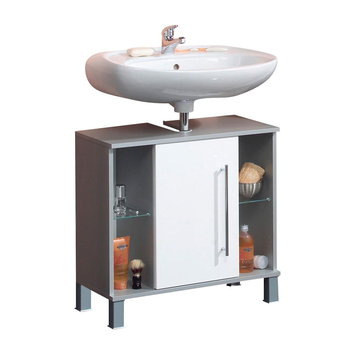 Waschbeckenunterschrank Weiß Hochglanz ca. 65 x 64,5 x 31,5 cm  porta!
