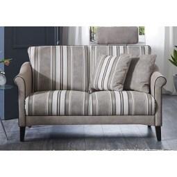 MONDO Sofa LUMINARA Stoffbezug Beige gestreift ca. 132 x 86 x 88 cm