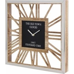 Wanduhr THE OLD TOWN 40 x 40 cm Holz braun